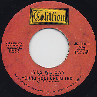 Young Holt Unlimited / Oh Girl c/w Yes We Can back
