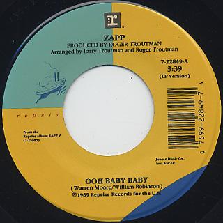 Zapp Ooh Baby Baby 7 W Jacket 7inch Warner Bros