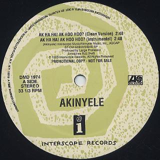 Akinyele / Ak Ha Ha! Ak Hoo Hoo? back