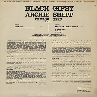 Archie Shepp / Black Gypsy back