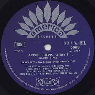 Archie Shepp / Black Gypsy label