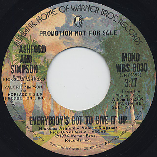 Ashford And Simpson / Everybody's Got To Give It Up back