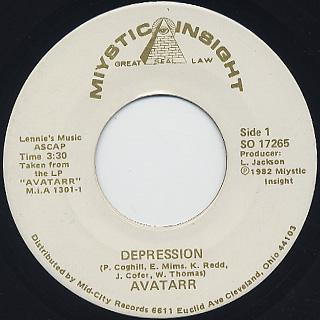 Avatarr / Depression c/w So Glad I Found You
