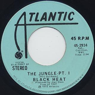 Black Heat / The Jungle Pt. I c/w (Mono)