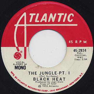 Black Heat / The Jungle Pt. I c/w (Mono) back