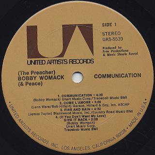 Bobby Womack / Communication label