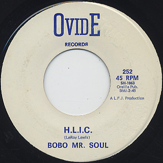 Bobo Mr. Soul / Answer To The Want Ads back