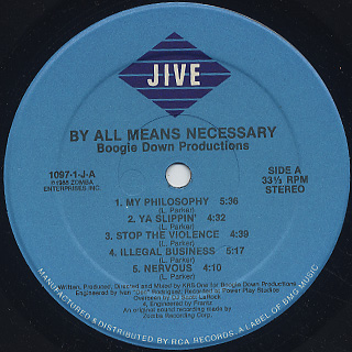 Boogie Down Productions / By All Means Necessary label