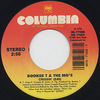 Booker T & MG's / Just My Imagination c/w Crusin'