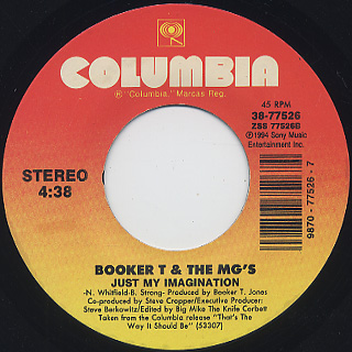 Booker T & MG's / Just My Imagination c/w Crusin' back