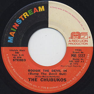 Chubukos / Boogie The Devil In (Bump The Devil Out)