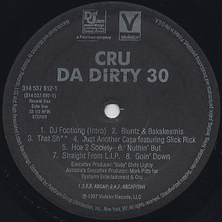Cru / Dirty 30 label