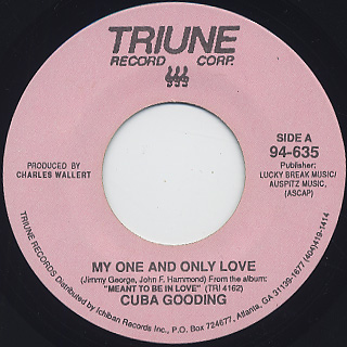 Cuba Gooding / My One And Only Love front