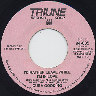 Cuba Gooding / My One And Only Love back
