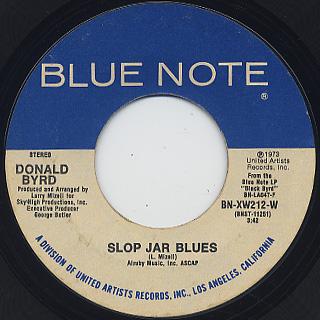 Donald Byrd / Black Byrd c/w Slop Jar Blues back