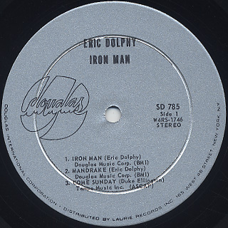 Eric Dolphy / Iron Man label