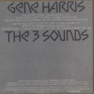 Gene Harris And The Three Sounds / S.T. back