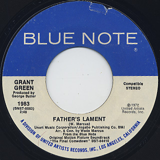 Grant Green / Afro Party c/w Father's Lament back