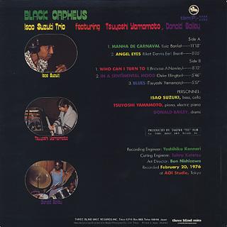 Isao Suzuki Trio / Black Orpheus back