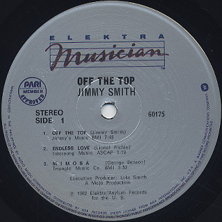 Jimmy Smith / Off The Top label