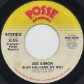 Joe Simon / Glad You Came My Way c/w I Don't Wanna Make Love
