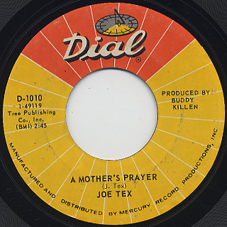 Joe Tex / I Gotcha c/w A Mother's Prayer back