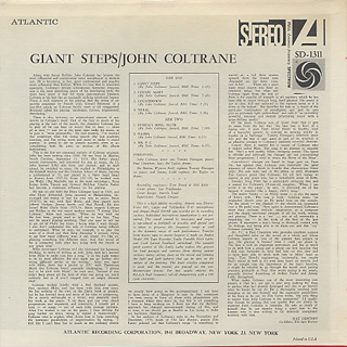 John Coltrane / Giant Steps back