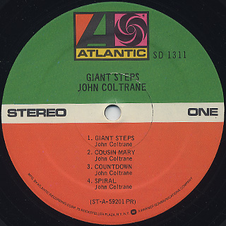 John Coltrane / Giant Steps label