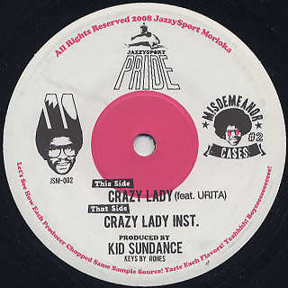 Kid Sundance / Crazy Lady back