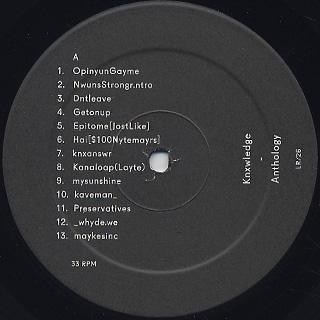 Knxwledge / Anthology (2LP) label