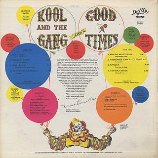 Kool And The Gang / Good Times back