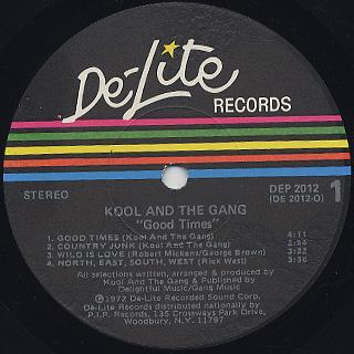 Kool And The Gang / Good Times label