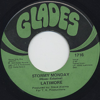 Latimore / Stormy Monday c/w There's No End