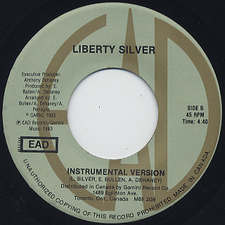 Liberty Silver / The Sweetest Thing To Me back