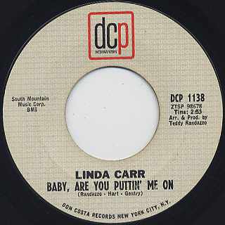 Linda Carr / Baby, Are You Puttin' Me On back
