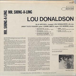 Lou Donaldson / Mr. Shing-A-Ling back