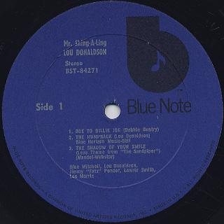 Lou Donaldson / Mr. Shing-A-Ling label