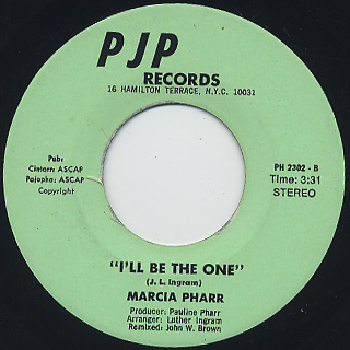 Marcia Pharr / Cheer Up c/w I'll Be The One back