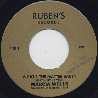 Marcia Wells / What's The Matter Baby?