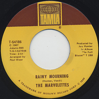 Marvelettes / That's How Heartaches Are Made c/w Rainy Mourning back