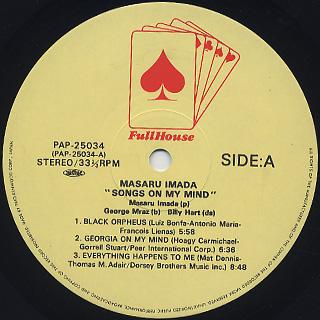 Masaru Imada / Songs On My Mind label