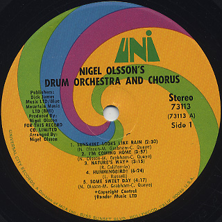 Nigel Olsson's Drum Orchestra And Chorus / S.T. label