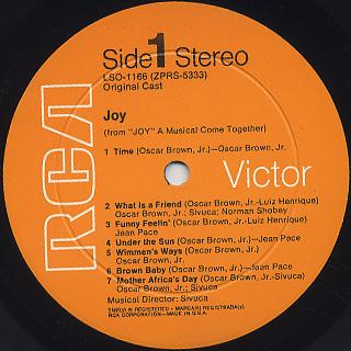 Oscar Brown Jr., Jean Pace, Sivuca / Joy label