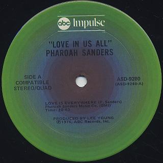 Pharoah Sanders / Love In Us All label