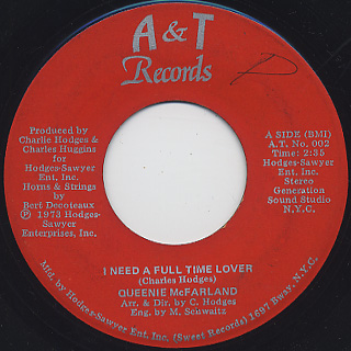 Queenie McFarland / I Need A Full Time Lover