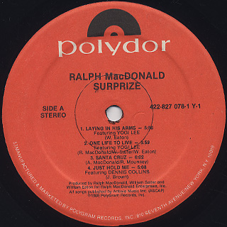 Ralph MacDonald / Surprize label
