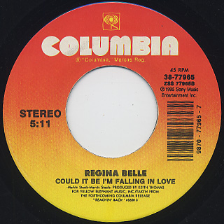 Regina Belle / Could It Be I'm Falling In Love c/w Love T.K.O.