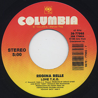 Regina Belle / Could It Be I'm Falling In Love c/w Love T.K.O. back