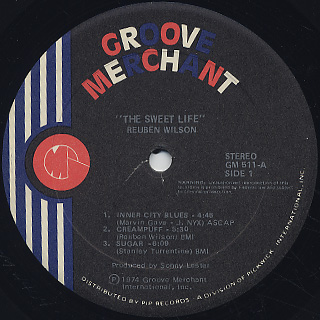 Reuben Wilson / The Sweet Life label