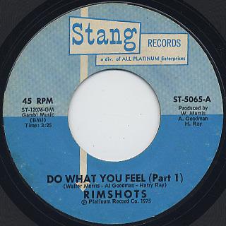 Rimshots / Do What You Feel (Part 1) c/w (Part 2)